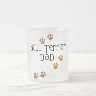 Bull Terrier Dad Frosted Glass Coffee Mug