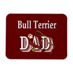Bull Terrier Dad Rectangular Magnet
