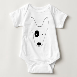Bull Terrier Dog Baby Bodysuit