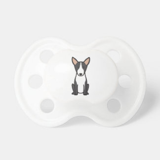 Bull Terrier Dog Cartoon Baby Pacifier