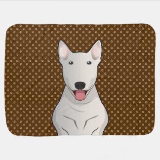 Bull Terrier Dog Cartoon Paws Baby Blankets