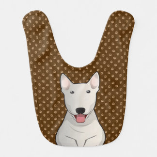 Bull Terrier Dog Cartoon Paws Bib