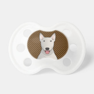 Bull Terrier Dog Cartoon Paws Pacifiers