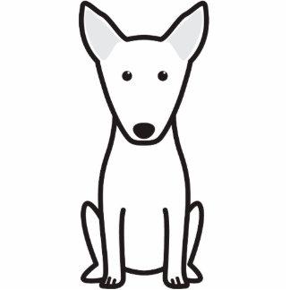 Bull Terrier Dog Cartoon Standing Photo Sculpture