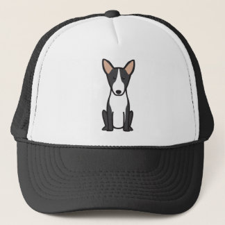 Bull Terrier Dog Cartoon Trucker Hat