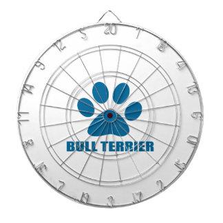 BULL TERRIER DOG DESIGNS DARTBOARD