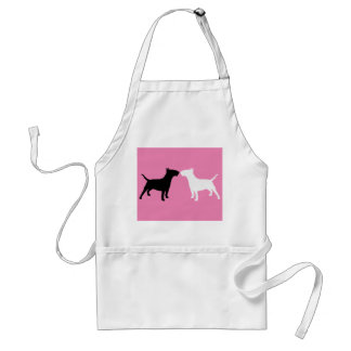 Bull Terrier Double Silhouette Apron