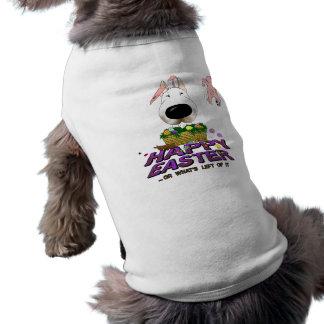 Bull Terrier Happy Easter Sleeveless Dog Shirt