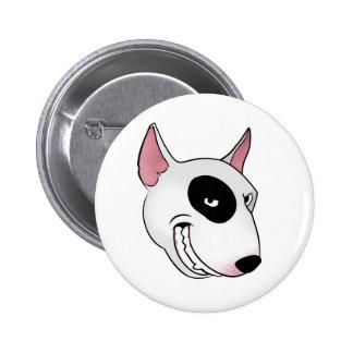 bull terrier head 6 cm round badge