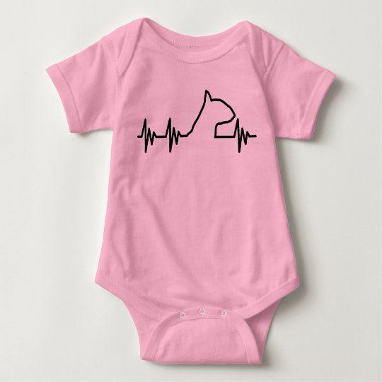 Bull terrier heart beat shirt