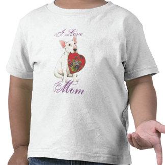 Bull Terrier Heart Mom Tee Shirt