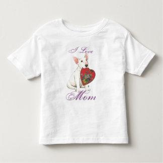 Bull Terrier Heart Mom Tshirts