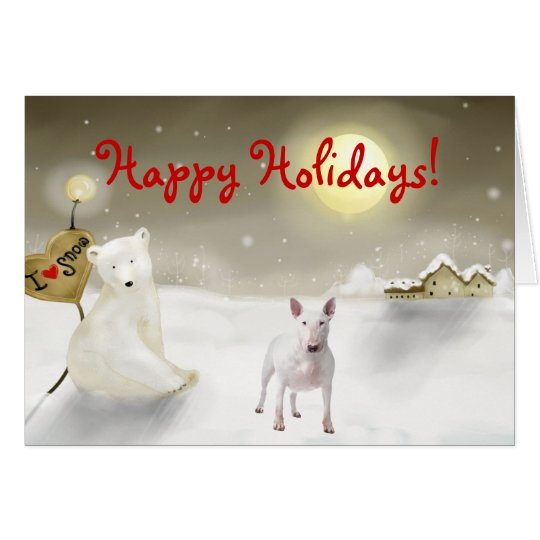Bull Terrier Holiday Card