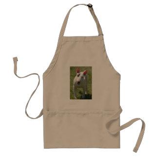 Bull Terrier in Grassy Field Standard Apron