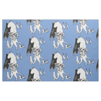 Bull Terrier Laundry Fabric Material