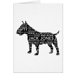 Bull Terrier London Slang Cockney Card