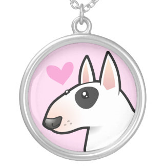 Bull Terrier Love Silver Plated Necklace