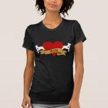 Bull Terrier Mum [Tattoo style] Tee Shirt