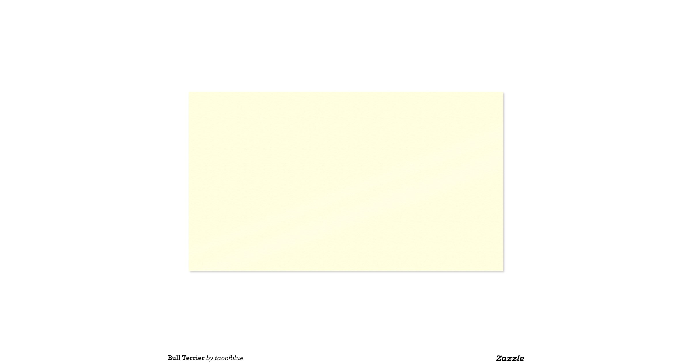 Business card printing template business card sample bull terrier pack of standard business cards zazzle cheaphphosting Image collections