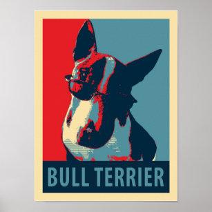 ANIMAL ART PHOTO PRINT OBAMA HOPE PARODY BULL TERRIER POSTER GIFT DOG