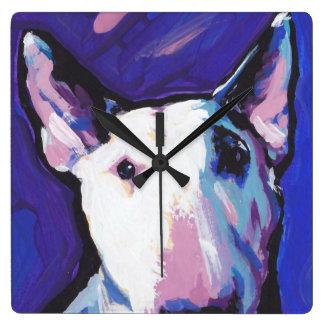 Bull Terrier Pop Art Wall Clock
