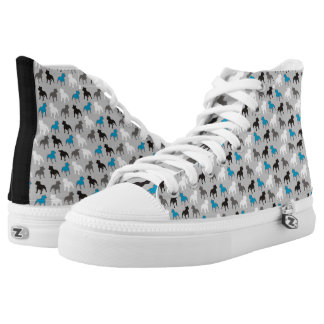 Bull Terrier Printed Shoes