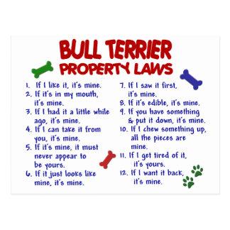 BULL TERRIER Property Laws 2 Postcard