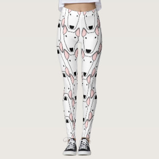 Bull Terrier Repeat Pattern Leggings