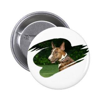 Bull Terrier Round Pin