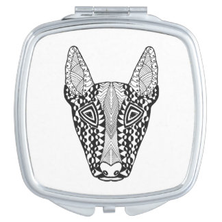 Bull Terrier Sketch Mirrors For Makeup