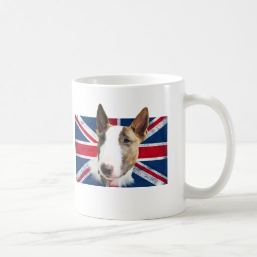 Bull terrier UK grunge flag //CUP of CUP Mugs