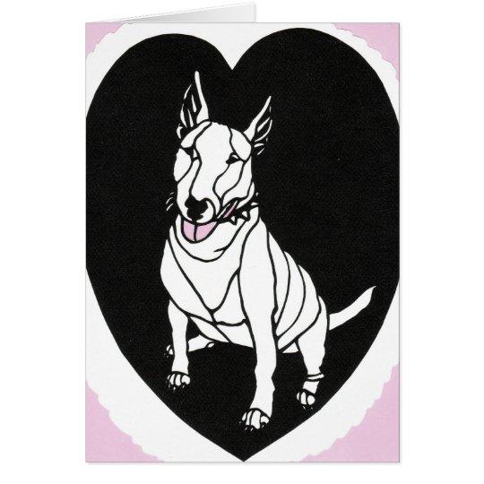 Bull Terrier Valentine Card