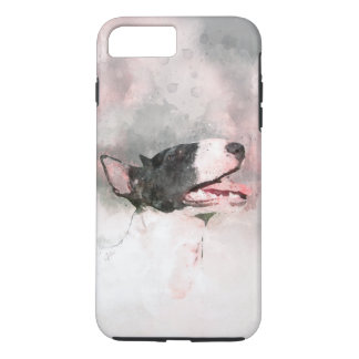 Bull Terrier watercolor painting iPhone case