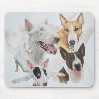 Bull Terrier wGhost Mouse Pad