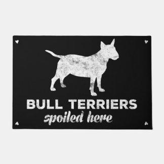 Bull Terriers Spoiled Here Doormat