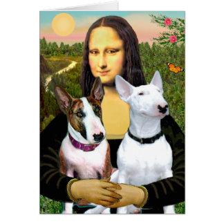 Bull Terriers (Two) - Mona Lisa Card