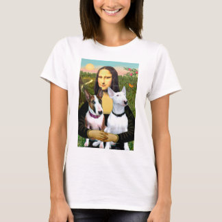 Bull Terriers (Two) - Mona Lisa T-Shirt
