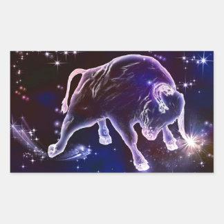 Bull universe rectangle sticker