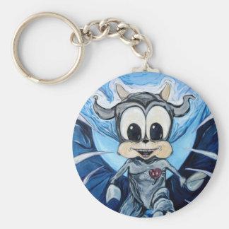 Bull w Wings Keychain