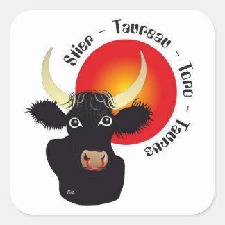 Bull - zodiac sticker