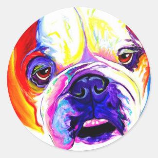 Bulldog #2 round sticker