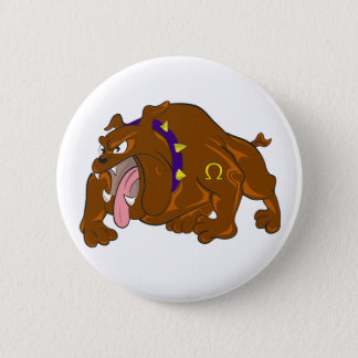 Bulldog 6 Cm Round Badge