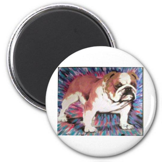 Bulldog 6 Cm Round Magnet
