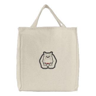 Bulldog Applique Embroidered Bag