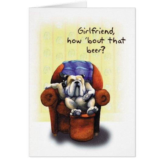 Bulldog Armchair - Funny Birthday Card