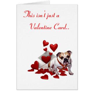 Bulldog Be Mine Valentine Greeting Card
