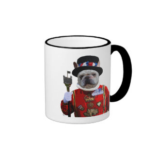Bulldog Beefeater Ringer Mug