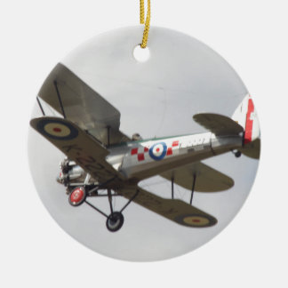 Bulldog Biplane Christmas Ornament