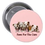 Bulldog Breast Cancer Button