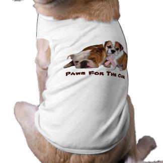 Bulldog Breast Cancer Pet Clothing